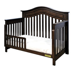 AFG Baby - AFG Baby Jordana Toddler Rail in Espresso - Once your child is ready, the Lia toddler rail attaches easily onto your Lia Crib to convert to a toddler bed.