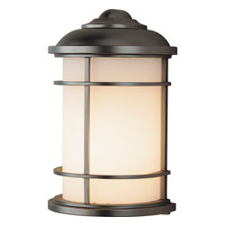 Murray Feiss - Murray Feiss Lighthouse Transitional Outdoor Wall Sconce X-BB3022LO - Clean lines and a nautical inspired design draw the eye in on this Murray Feiss outdoor wall sconce. From the Lighthouse Collection, it features a rich Burnished Bronze finish that compliments the shape. Meanwhile, a beautiful opal etched glass shade helps to complete the look.