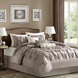 Madison Park Vivian Polyester Solid Tufted 7-piece Comforter Set -