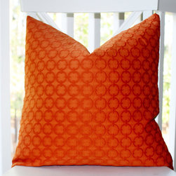 Hermes Orange Geometric Circle Embroidered Pillow Cover - Etsy