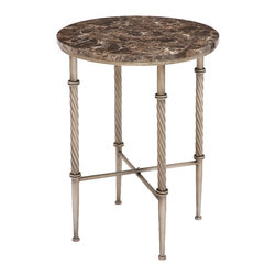 Benzara - Elegant and Beautiful Attractive Styled Metal Faux Marble Table Home Decor - Elegant and beautiful inspired attractive styled metal faux marble accent table living room home accent decor
