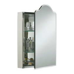 Kohler Single Door Aluminum Cabinet With Vintage Mirrored Door - I love the traditional silhouette of this one.