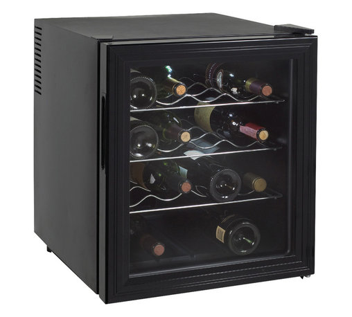 "Avanti - 16 Bottle thermoelectric wine cooler - Stores up to 16 Wine Bottles, Adjustable Thermostat For Ideal Temperature Controlled Conditions, Recessed Handle, Solid State Components for Superior Reliability, No Vibration - Bottle Sediment is not Disturbed, Unique State-of-the-Art Thermoelectric Technology, Thermopane Reversible Glass Door, Auto Defrost, Soft Interior Lighting with ON/OFF Switch, Slide-Out Chrome Shelves, Unit dimensions 20.25"" H x 17"" W x 19"" D"