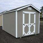 Little Cottage - Little Cottage 8 x 10 ft. Classic Wood Gable Panelized Storage Shed Multicolor - - Shop for Sheds and Storage from Hayneedle.com! Additional Features Door measures 4W x 6H feet Double door provides easy entry and exit Trim constructed from high quality composite material Classic and beautiful the Little Cottage 8 x 10 ft. Classic Wood Gable Panelized Storage Shed Kit arrives at your home precut and ready to assemble. Featuring Smartside siding and trim that is pre-fastened to the panels for easy assembly you'll have your new shed up and ready for use in no time. A great size for any yard the double doors makes it easy to store larger items in this shed while the door handle latch locks to keep everything safe. Simple and classic this shed will look great in any backyard. About The Little Cottage CompanyNestled in the heart of Ohio's Amish country The Little Cottage Company resides in a quaint slow-paced setting where old-fashioned craftsmanship and attention to detail have never gone out of style. Their experienced carpenters and skilled designers take great pride in creating top-quality pre-built models and Do-It-Yourself kits of playhouses storage sheds and more.