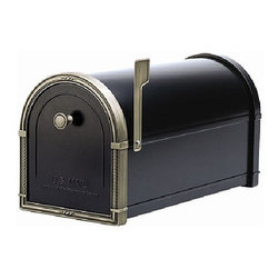 Bellevue Post Mounted Mailbox, Black with Bronze - Some people have their mailboxes attached to their houses or a slit right in their doors. Mine is on a post at the end of the driveway, and this box would be a beautiful replacement.