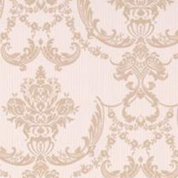 Graham and Brown - Palais Wallpaper - Cream Shimmer/Beige - Palais Damask wallpaper - a classic damask design that adds the illusion of textured silk.