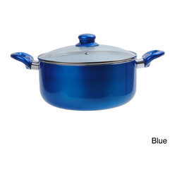 None - 6-quart Ceramic Dutch Oven - Cook your favorite stews and soups with this Ceramic six-quart Dutch Oven Pot with tempered glass lid. The ceramic non-stick Dutch Oven requires little or no oil to cook and makes cleaning fast and easy.