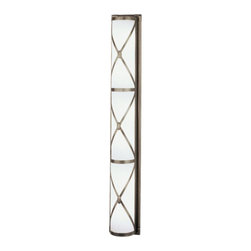 Robert Abbey Chase Triple Height Wall Sconce , Patina Nickel - Robert Abbey Chase Triple Height Wall Sconce