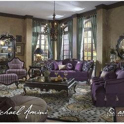 AICO Furniture - Lavelle Living Room Set (Dark Truffle) - 54-59-LR-SET - Durable construction.