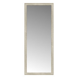 """Posters 2 Prints, LLC - 25"""" x 62"""" Libretto Antique Silver Custom Framed Mirror - 25"""" x 62"""" Custom Framed Mirror made by Posters 2 Prints. Standard glass with unrivaled selection of crafted mirror frames.  Protected with category II safety backing to keep glass fragments together should the mirror be accidentally broken.  Safe arrival guaranteed.  Made in the United States of America"""