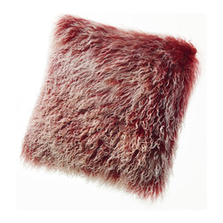Sheepskin Pillows Tibetan Mongolian Lambskin Curly Fur Cushions - Tibetan Lambskin Throw Pillows Curly Fur Cushions