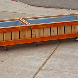 Rolling Bench / Planter / Container - Multifunctional Bench/ Storage/  Planter Solution