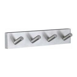 Smedbo - Smedbo House Quad Towel Hook, Brushed Chrome - Smedbo House Quad Towel Hook, Brushed Chrome