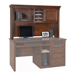 Kathy Ireland Home by Martin - Huntington Oxford Office Organizer hutch - HOR542 - Inspired by the kathy ireland Home™ Americana Style Guide™, Huntington Oxford is a transitional furniture design built with hardwood solids and veneers.