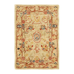 Safavieh - Safavieh Anatolia Small Rectangular Rug in Ivory, Beige, 3'x5' - Anatolia Collection Brings Old World Sophistication and Quality in New Tufted Rugs. This Collection Captures the Authentic Look and Feel of the Decorative Rugs Made in the Late 19Th Century in This Region. Hand Spun Wool and an Ancient Pot Dying Technique Together with a Densely Woven Thick Pile, Gives Anatolia Rugs Their Authentic Finish. What's included: Area Rug (1).