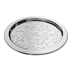 "Alessi - Alessi ""Dressed"" Bottle Coaster - Bottle coaster in 18/10 stainless steel, mirror polished with relief decoration."