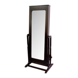 """ORE International - 61""""H Standing Mirror with Storage - This classy jewelry cabinet comes with a ..."""