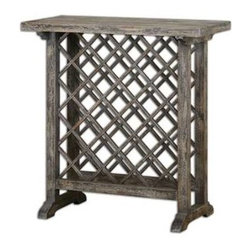 Uttermost - Uttermost Annileise Wooden Wine Table - 24354 - Uttermost's tables combine premium quality materials with unique high-style design.