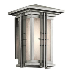 Kichler - Kichler Portman Square Outdoor Wall Mount Light Fixture in Steel - Shown in picture: Outdoor Wall Lantern 1Lt in Stainless Steel