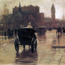 "Frederick Childe Hassam Columbus Avenue, Rainy Day - 16"" x 20"" Premium Archival - 16"" x 20"" Frederick Childe Hassam Columbus Avenue, Rainy Day premium archival print reproduced to meet museum quality standards. Our museum quality archival prints are produced using high-precision print technology for a more accurate reproduction printed on high quality, heavyweight matte presentation paper with fade-resistant, archival inks. Our progressive business model allows us to offer works of art to you at the best wholesale pricing, significantly less than art gallery prices, affordable to all. This line of artwork is produced with extra white border space (if you choose to have it framed, for your framer to work with to frame properly or utilize a larger mat and/or frame).  We present a comprehensive collection of exceptional art reproductions byFrederick Childe Hassam."