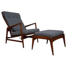 Accent Chairs Danish Modern Recliner by Ib Kofod Larsen
