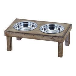 Benzara - Classic Style Handmade Pet Feeder Food Bowl - Classic Style Handmade Pet Feeder Food Bowl