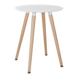 Modway - Track Circular Dining Table EEI-1058 White - Like freshly budding plants, determined to sprout, ideas will push to the surface with this minimalist modern dining table. Track will generate a swirl of conversations, activities, and ideas that mix to form a vibrant atmosphere. Solid beechwood legs and a smooth veneer top create an artistic side table that presents a clean slate at every gathering.