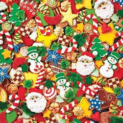 Cookie Cutouts Puzzle - 2000 Piece Jigsaw PuzzleCookie Cutouts is a little bit of something old with a lot more of something new! This is a reissue of a classic Springbok from 1984 that was originally 500 pieces, we've played with the colors a bit and made this sweet, holiday treat into a holiday jigsaw puzzle that is now a whopping 2000 pieces! It's a challenge! But it's also a way to have lots of fun and lots of Christmas cookies, too!