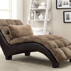 Stylish Seating - Two-Tone Chaise