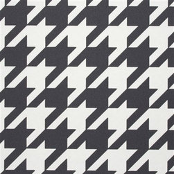 Walls Republic - Dogstooth Black and White Wallpaper R2542 - Dogstooth is a large scale houndstooth pattern with a classic feel. Use it for a timeless feature in your home office or hallway.