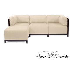 Howard Elliott Axis 4-piece Sectional Sterling - Howard Elliott Axis 4-piece Sectional Sterling