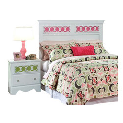 Standard Furniture - Standard Furniture My Room 2-Piece Headboard Bedroom Set in White - My Room girls youth collection is sure to be every girls dream bedroom with its functional pieces, feminine style details, and versatile color scheme options.