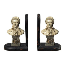 Sterling Industries - Mozart Book Ends - Mozart Book Ends