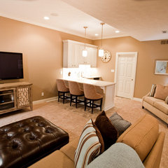 traditional basement by Case Design & Remodeling Indy
