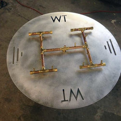 Custom Fire Pit Burners - All brass Crossfire Burner. Coming in 2014, these burners will outlast all other burners on the market due to the non-corrosive properties of brass. Comes with a limited lifetime warranty.