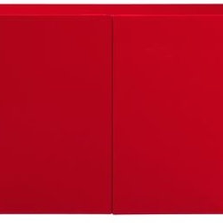 Fuel Red Credenza - Wow! This bright red lacquer credenza is sure to add some character to your home. It could work in a hallway, living room or dining room.