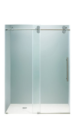 "VIGO Industries - VIGO 72-inch Frameless Shower Door 3/8"" Clear/Chrome Hardware - This VIGO clear shower door adds a touch of elegance and luxury to any bathroom."