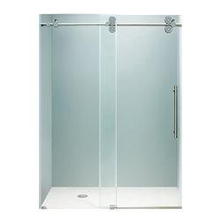 "VIGO Industries - VIGO 72-inch Frameless Shower Door 3/8"" Clear/Chrome Hardware - This VIGO clear shower door adds a touch of elegance and luxury to any bathroom."