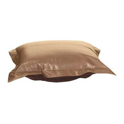Howard Elliott Avanti Bronze Puff Ottoman Cushion - Nouveau Riche! Extra Puff cushions in Avanti are a great way to get a fresh new look without the expense of buying a whole new ottoman! Puff cushions fit Scroll ottoman frames. Avanti features a paneled design with a luxurious leather look and feel, without the expense of real leather.