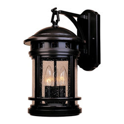 Designers Fountain - Designers Fountain Sedona Outdoor Wall Mount Light Fixture in Oil Rubbed Bronze - Shown in picture: Sedona Outdoor Lighting in Oil Rubbed Bronze finish