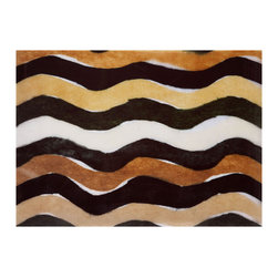 Liora Manne - Liora Manne Waves Black and White Placemats, Set of 4 -