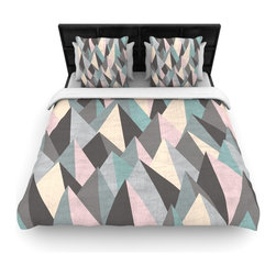 "Kess InHouse - Michelle Drew ""Mountain Peaks III"" Pastel Geometric Cotton Duvet Cover (Twin, 68 - Rest in comfort among this artistically inclined cotton blend duvet cover. This duvet cover is as light as a feather! You will be sure to be the envy of all of your guests with this aesthetically pleasing duvet. We highly recommend washing this as many times as you like as this material will not fade or lose comfort. Cotton blended, this duvet cover is not only beautiful and artistic but can be used year round with a duvet insert! Add our cotton shams to make your bed complete and looking stylish and artistic!"