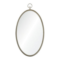 Ren-Wil - Port Jackson Mirror - 22W x 40H in. Multicolor - MT1506 - Shop for Mirrors from Hayneedle.com! The Port Jackson Mirror 22W x 40H in. offers graceful form and Victorian-inspired style with its large oval glass a perfect choice for walls in need of unhindered reflection. Crafted from metal in a lovely silver finish this mirror is simply yet distinctively accented with a decorative round hook and finial.About Ren-WilFor over 45 years Ren-Wil has been creating quality wall decor mirrors and lighting that enhances any space. The company's talented team of in-house artists travels the world to find the newest materials fashions and trends and then applies them to their work. The team also uses multi-media designs for many of their pieces. Ren-Wil is the leader in Alternative Wall DEcor and is the market leader in Canada. They thrive on offering a fresh innovative product line and superior customer service.