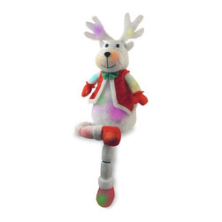 National Tree Company - 33 in. Cotton Red Sitting Deer - MZCRD-300-33 - Shop for Holiday Ornaments and Decor from Hayneedle.com! Add some holiday charm to your decor with the 33 in. Cotton Red Sitting Deer. This cute and casual display features a Christmas deer dressed up in his holiday finest complete with vest and 18 multi-color lights to brighten up any setting.About National Christmas ProductsNational Christmas Products isn't quite Santa's workshop but they're getting closer with each passing year. A variety of holiday decor products are offered by the company including wreaths garlands Christmas trees and more. Each of the greenery products are artificial for a long-lasting indoor/outdoor design but feature a Feel-Real aesthetic that's nearly indistinguishable from a fresh-cut tree. Several sizes and colors of trees are available with many pre-lit options. Whatever your need National Christmas Products is here to serve.