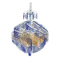 Elegant Lighting - Elegant Lighting 8053D22C Spiral 10-Light, Single-Tier Crystal Chandelier, Finis - Elegant Lighting 8053D22C Spiral 10-Light, Single-Tier Crystal Chandelier, Finished in Chrome with Royal Cut CrystalsElegant Lighting 8053D22C Features: