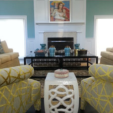 Eclectic Living Room by Ana Donohue Interiors