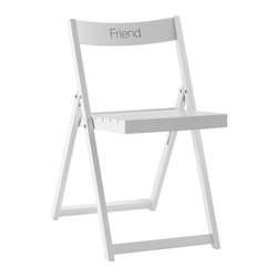 Folding Chair – Monogrammable - Folding chairs are handy to have around for holidays, and monogramming them makes them feel like they're a more permanent fixture in the space.