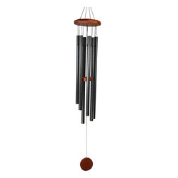 Great World - 32 Inch Octagon Wood Top Tuned Metal Wind Chime in Silver Color - This gorgeous 32 Inch Octagon Wood Top Tuned Metal Wind Chime in Silver Color has the finest details and highest quality you will find anywhere! 32 Inch Octagon Wood Top Tuned Metal Wind Chime in Silver Color is truly remarkable.