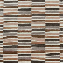 Surya - Surya Young Life YGL-7005 (Gray, Taupe) 5' x 8' Rug - This Hand Tufted rug would make a great addition to any room in the house. The plush feel and durability of this rug will make it a must for your home. Free Shipping - Quick Delivery - Satisfaction Guaranteed