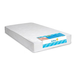 None - DHP Safety First Heavenly Dreams Crib Mattress - The Safety 1st Heavenly Dreams Crib Mattress is free of phthalates and lead. The tear-resistant cover resists stains,odors and mildew and is waterproof and wipes clean. This mattress can also be used with a toddler bed.